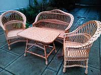 Набор мебели из лозы Простой