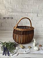 Плетеные корзины из цельной лозы