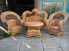 Набор мебели из лозы с диваном Королевский