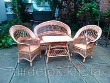 Комплект мебели из лозы   с диваном  Капля