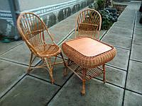 Набор мебели из лозы Кофейный