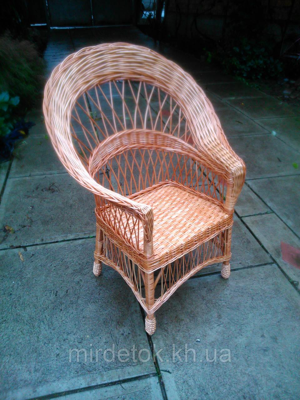 """Кресло из лозы """"Капля"""""""