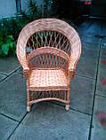 """Кресло из лозы """"Капля"""", фото 2"""