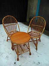Набор мебели плетеный для чаепития на балконе
