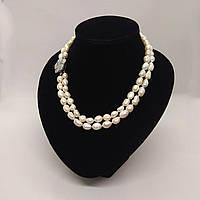 Намисто з перлів білого кольору L=120 см Ø=5-6 мм, фото 1