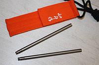 Титановые складные палочки для суши Titaner 2 шт. в чехле. Палочки для еды.
