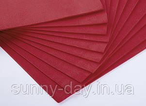 Фоаміран лист (50х50см), колір  - червоний