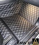 Оригинальные Коврики BMW X5 Е70 из Экокожи 3D (2006-2013) с текстильными накидками БМВ Х5 Е70 Тюнинг, фото 10