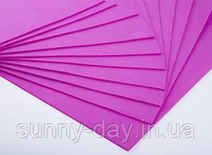 Фоаміран лист (50х50см), колір  - барбі