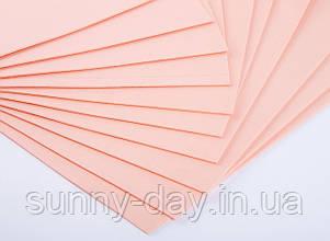 Фоаміран лист (50х50см), колір  - персиковий