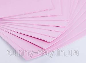 Фоаміран лист (50х50см), колір  - рожевий