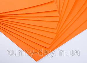 Фоаміран лист (50х50см), колір  - помаранчевий