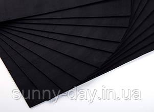 Фоаміран лист (50х50см), колір  - чорний