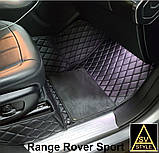 Коврики для BMW X6 E71 из Экокожи 3D (2008-2014) с Текстильными Накидками Тюнинг БМВ Х6 Е71, фото 8