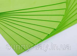 Фоаміран лист (50х50см), колір  - світло зелений
