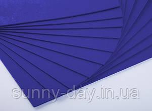 Фоаміран лист (50х50см), колір  - кобальт