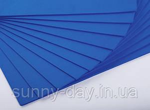 Фоаміран лист (50х50см), колір  - синій