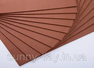 Фоаміран лист (50х50см), колір  - шоколад