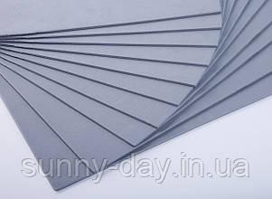 Фоаміран лист (50х50см), колір  - сірий
