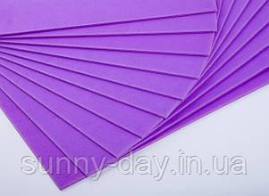 Фоаміран лист (50х50см), колір  - темно ліловий