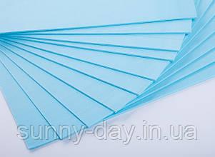 Фоаміран лист (50х50см), колір  - блакитний