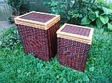 Ящик для белья маленький темный, фото 2
