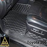 3D Килимки на Hyundai Santa Fe Шкіряні (2012-2018) з текстильними накидками, фото 8