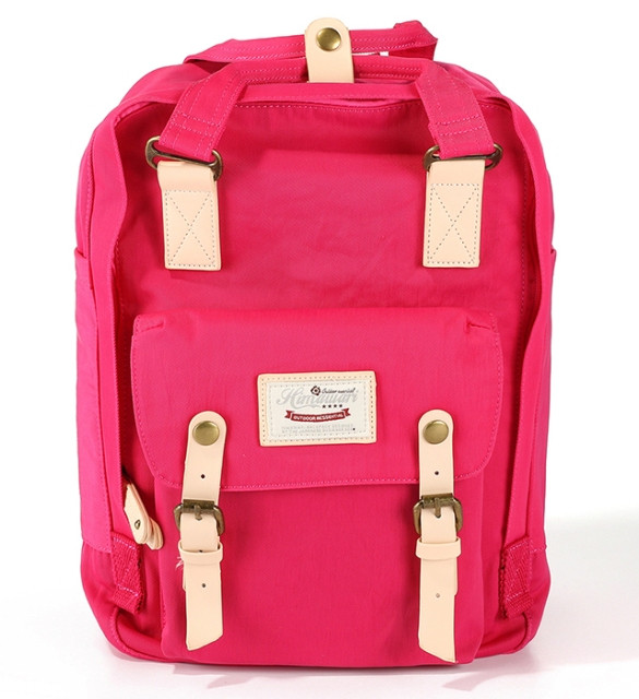 Стильна універсальна сумка рюкзак Himawari 188-L Фуксія для покупок, для мам, студентам, школярам