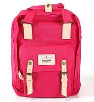 Стильная универсальная сумка рюкзак Himawari 188-L Фуксия для покупок, для мам, студентам, школьникам