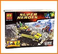 Конструктор аналог LEGO Super Heroes 76017 Bela Капитан Америка против Гидры арт. 10238