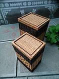 Ящики квадратные с темной окантовкой, фото 3
