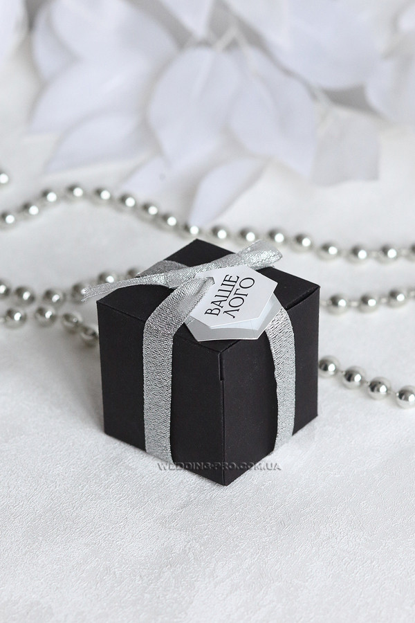"""Коробочка """"Куб"""" з биркою з вашим логотипом"""