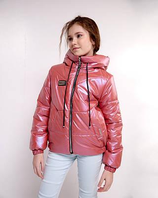 Эклер оранжевая детская подростковая куртка демисезонная на девочку
