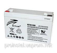 Аккумуляторная свинцово-кислотная батарея AGM RITAR RT6100 Gray Case 6V 10Ah Q20