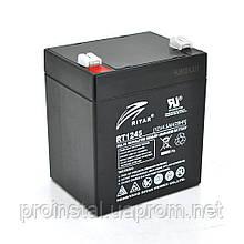 Аккумуляторная свинцово-кислотная батарея AGM RITAR RT1245B Black Case 12V 4.5Ah Q10