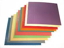 Кольорова вощина (10 кольорів) - набір для виготовлення качаних свічок і творчості розмір аркуша 10 на 13 см