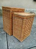 Ящики для белья натуральные пара, фото 2