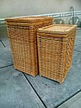 Ящики для белья натуральные пара, фото 4