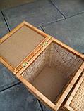 Ящики для белья натуральные пара, фото 5