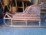 Детские санки из натуральной лозы 100 см с 6 месяцев, фото 3
