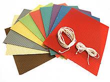 Набір для творчості 10 кольорів (виготовлення качаних свічок) кольорова вощина 10 аркушів розмір  20 на 26 см