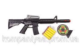 Іграшковий автомат з м'якими кулями M16 PF Golden Gun 910GG (Чорний)