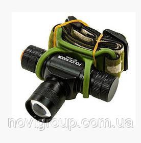 Налобний Ліхтарик Bailong BL-6660, Q5 Cree, 3 реж., Zoom, корпус-пластик, водостійкий, ударостійкий, 14500