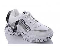 Демисезонные подростковые кроссовки из Pu-кожи белые. Размеры 35, 36, 37, 38, 39, 40. Violeta 732-2.