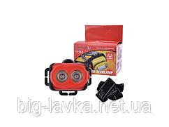 Портативный налобный фонарик 501 2LM  3xAA  Красный