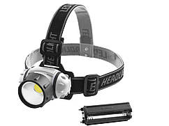 Портативный налобный фонарик 050B COB 3xAAA  Серый