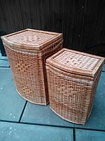 Ящики для белья выпуклые натуральные