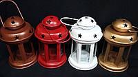 Подсвечник-фонарик металлический, 16 см, 90/70 черный