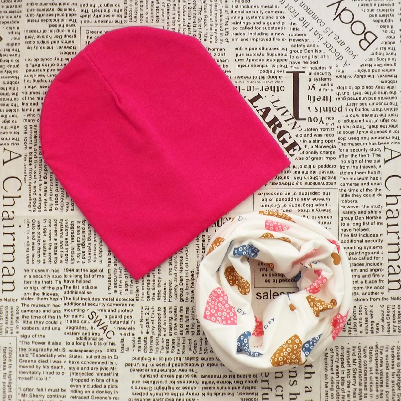 Демисезонный набор: детская шапка Варе и снуд (071063)