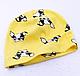Однослойная трикотажная детская шапочка Тучи 4 мес.- 2 года ( ОГ: 44-50см.), фото 4